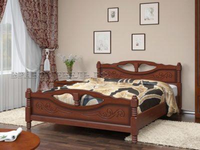Кровать «Елена-4» орех