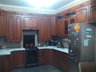 Кухня П-образная мдф патина