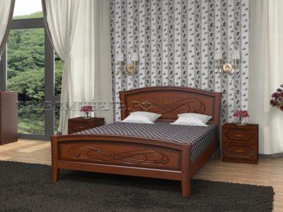 Кровать «Карина-16» орех