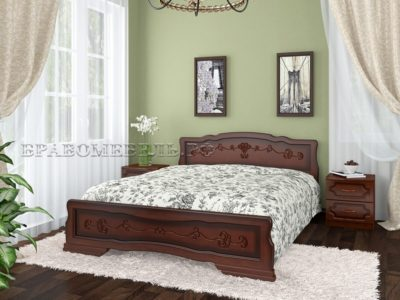 Кровать «Карина-6 тахта» орех