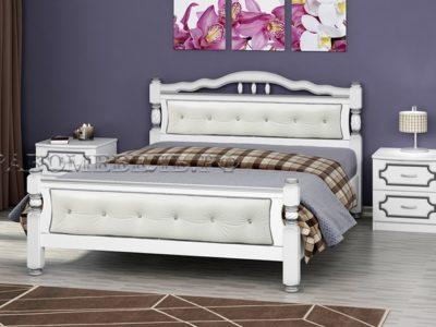 Кровать «Карина-11» белый жемчуг