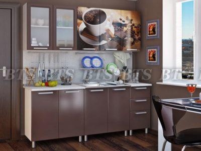 Кухня «Люкс шоколад», 2.0м