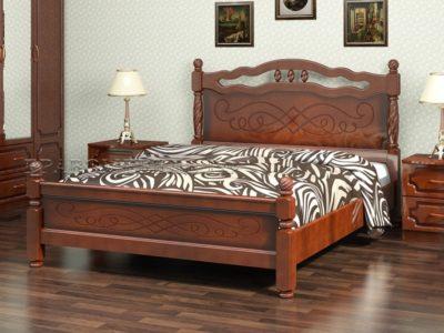 Кровать «Карина-15» орех