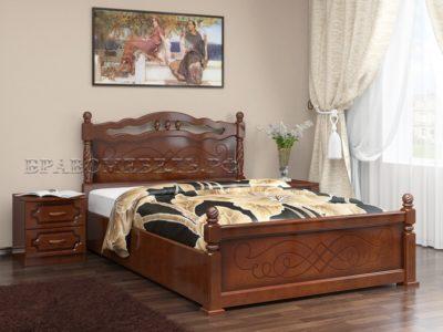 Кровать «Карина-14» орех