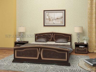 Кровать «Елена» темный орех с тонировкой