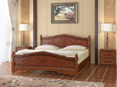 Кровать «Карина-12» орех