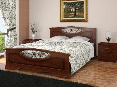 Кровать «Елена-5» орех