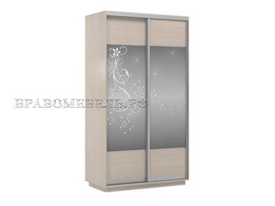 Шкаф «Честер 1200» (2 зеркала с рисунком)