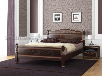 Кровать «Карина-5» орех тёмный с тонировкой