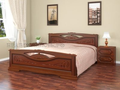 Кровать «Елена-2» орех